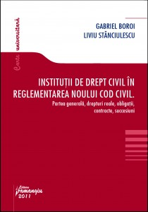 Institutii de drept civil in reglementarea noului Cod civil