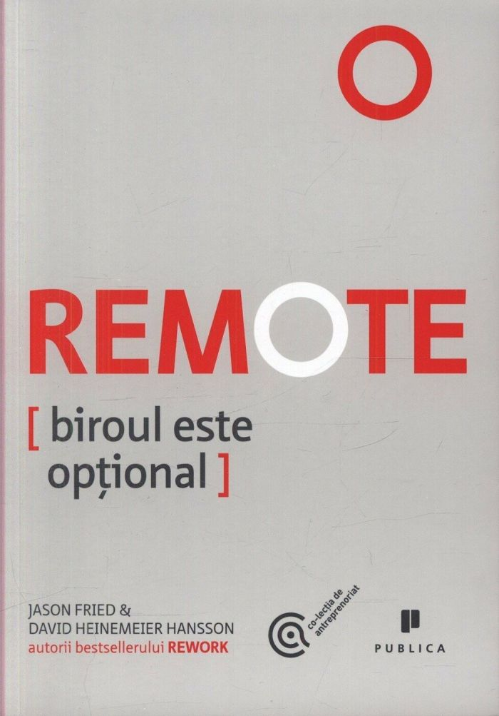 Remote. Biroul este optional